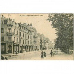 carte postale ancienne 90 BELFORT. Avenue de la Gare