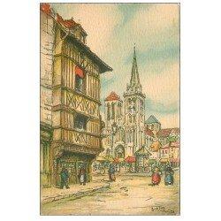 carte postale ancienne 14 LISIEUX. Cathédrale Saint-Pierre par Barday