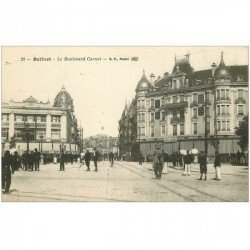 carte postale ancienne 90 BELFORT. Boulevard Carnot 1918 Galeries Modernes