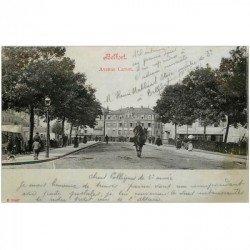 carte postale ancienne 90 BELFORT. Cavalier Avenue Carnot. Décollée d'un album..