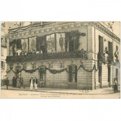 carte postale ancienne 90 BELFORT. Cercle des Officiers grandes Fêtes Patriotiques 1919
