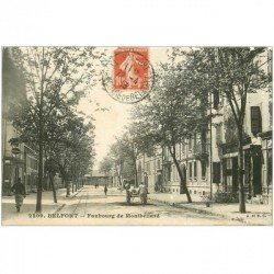carte postale ancienne 90 BELFORT. Faubourg de Montbéliard 1913