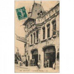 carte postale ancienne 90 BELFORT. La Grande Taverne Brasserie projections cinématographiques. Puis Théâtre Concert Cinéma Rex