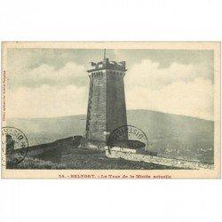 carte postale ancienne 90 BELFORT. La Tour de la Miotte 1912