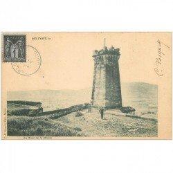 carte postale ancienne 90 BELFORT. La Tour de la Miotte. Timbre 1 centime vers 1900