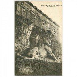 carte postale ancienne 90 BELFORT. Le Lion et le Château