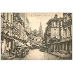 carte postale ancienne 14 LISIEUX. Garage Grand Rue pompe à essence mécanique