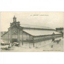 carte postale ancienne 90 BELFORT. Le Marché Couvert 1918
