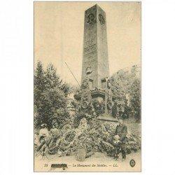 carte postale ancienne 90 BELFORT. Le Monument des Mobiles 1916 animation