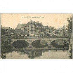 carte postale ancienne 90 BELFORT. Le Nouveau Pont