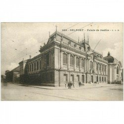 carte postale ancienne 90 BELFORT. Le Palais de Justice vers 1919