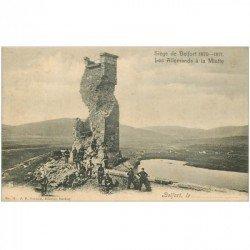 carte postale ancienne 90 BELFORT. Les Allemands à la Miotte 1902