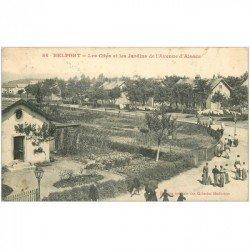 carte postale ancienne 90 BELFORT. Les Cités et Jardins Avenue d'Alsace 1917