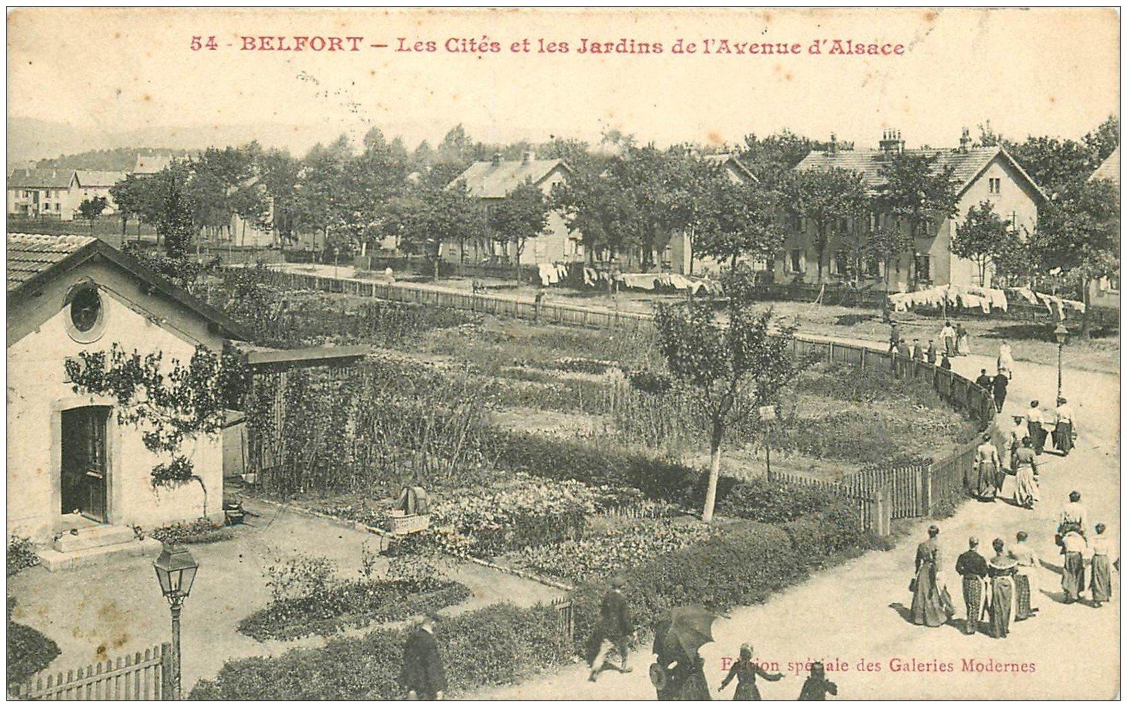 90 belfort les cit s et jardins avenue d 39 alsace 1917 - Les jardins d alsace ...
