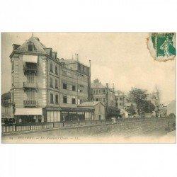 carte postale ancienne 90 BELFORT. Les Nouveaux Quais Aux Galeries Parisiennes