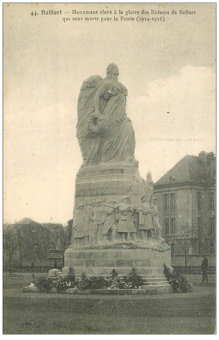 carte postale ancienne 90 BELFORT. Monument aux Morts pour la Patrie