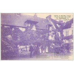 carte postale ancienne 14 LISIEUX. Hôtel du Maure diligence