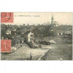 carte postale ancienne 90 RECHESY. Le Village avec Soldats Poilus 1907. Verso vierge