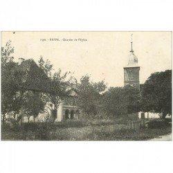 carte postale ancienne 90 REPPE. Quartier de l'Eglise vers 1919