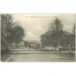 carte postale ancienne 90 SERMAMAGNY. La Mairie vers 1919