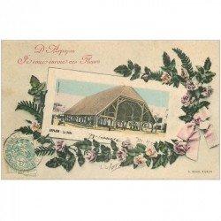 carte postale ancienne 91 ARPAJON. La Halle 1906