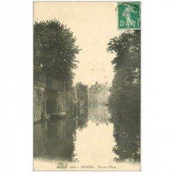 carte postale ancienne 91 ARPAJON. Vue sur l'Orge 1910