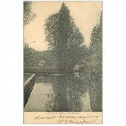 carte postale ancienne 91 ATHIS MONS. Le Moulin vers 1903 (pli petit coin droit )