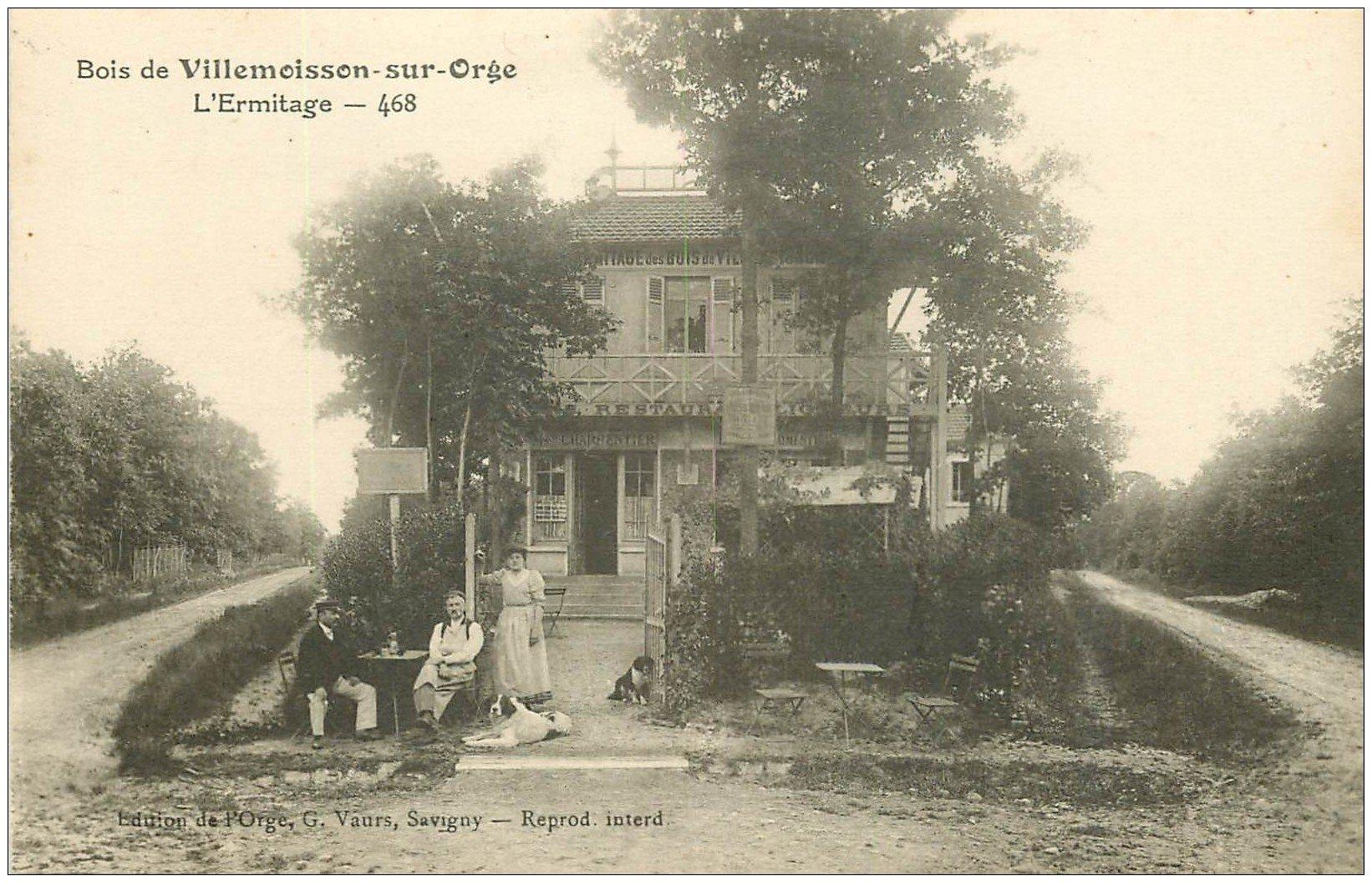 carte postale ancienne 91 BOIS DE VILLEMOISSON SUR ORGE. Café Buvette Restaurant l'Ermitage