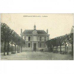 91 BALLANCOURT SUR ESSONNE. La Place Hôtel de la Réunion et Restaurant de la Renaissance 1921. Superbe carte toilée