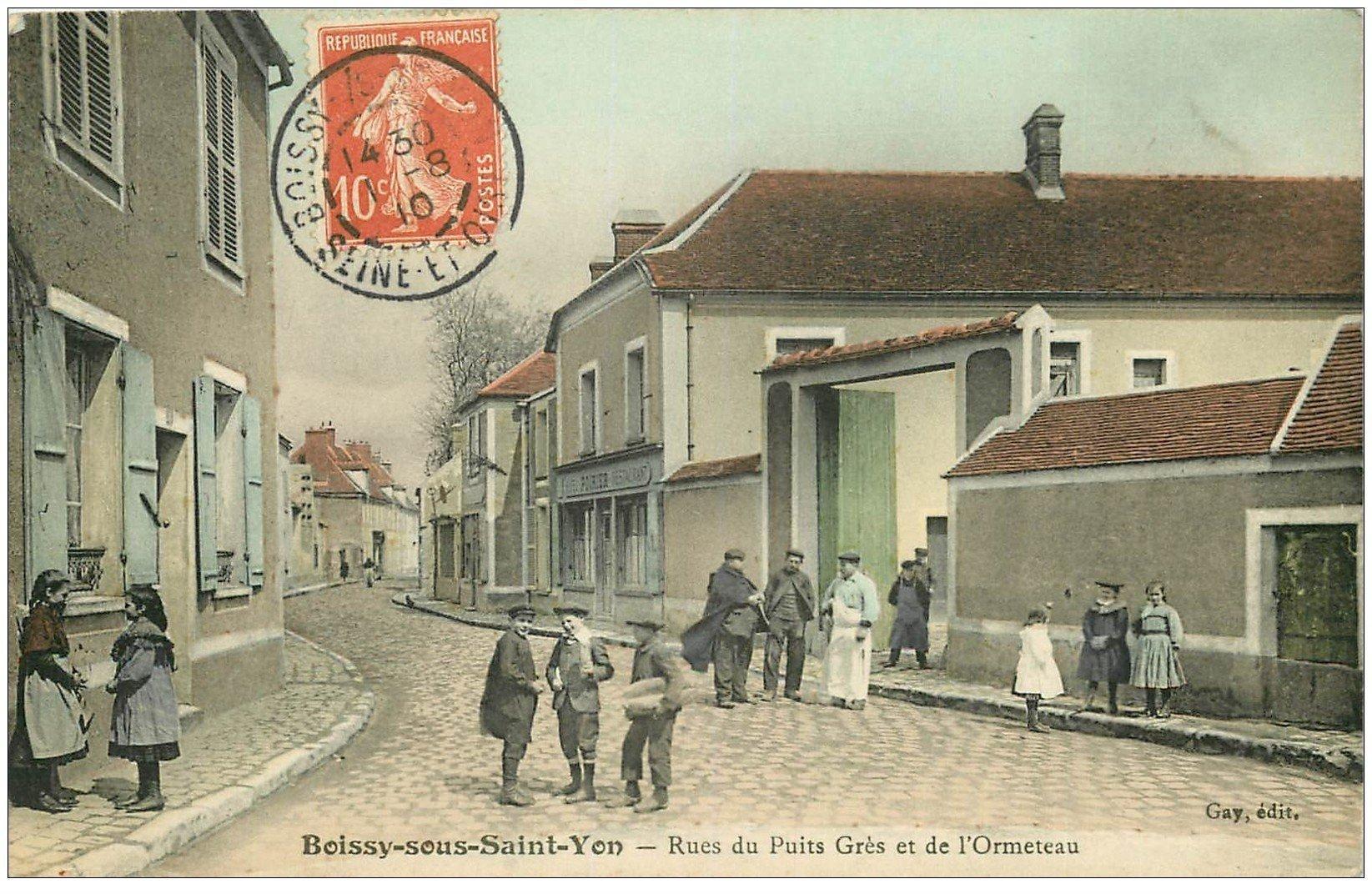 91 boissy sous saint yon rue du puits gr s et de l 39 ormeteau 1910 restaurant poirier. Black Bedroom Furniture Sets. Home Design Ideas
