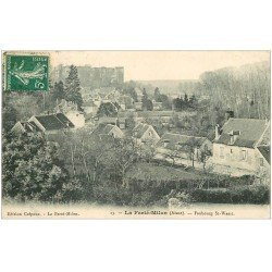 carte postale ancienne 02 LA FERTE-MILON. Faubourg Saint-Waast 1909