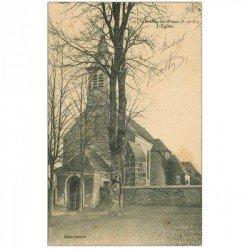 carte postale ancienne 91 BOULLAY LES TROUX. L'Eglise 1914