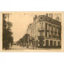 carte postale ancienne 91 CORBEIL ESSONNES. Avenue Darblay Banque Société Générale 1940