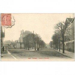 carte postale ancienne 91 CORBEIL ESSONNES. Avenue d'Harblay 1906