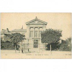 carte postale ancienne 91 CORBEIL ESSONNES. Le Palais de Justice 1919