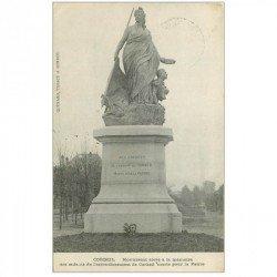 carte postale ancienne 91 CORBEIL ESSONNES. Monuments aux Enfants morts pour la Patrie. Tampon militaire