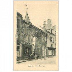 carte postale ancienne 91 CORBEIL ESSONNES. Porte Saint-Spire Lunetterie Aubert