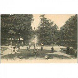carte postale ancienne 91 CORBEIL ESSONNES. Square Saint Jean avec Enfants