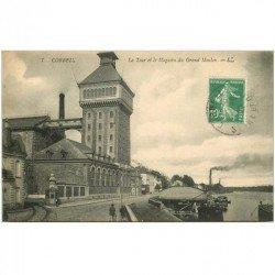 carte postale ancienne 91 CORBEIL ESSONNES. Tour et Magasin du Grand Moulin