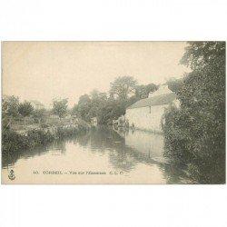 carte postale ancienne 91 CORBEIL ESSONNES. Vue sur la Rivière