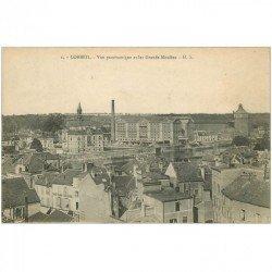 carte postale ancienne 91 CORBEIL ESSONNES. Vue sur les Grands Moulins
