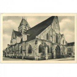 carte postale ancienne 91 ETAMPES. Eglise Saint Basile 1945