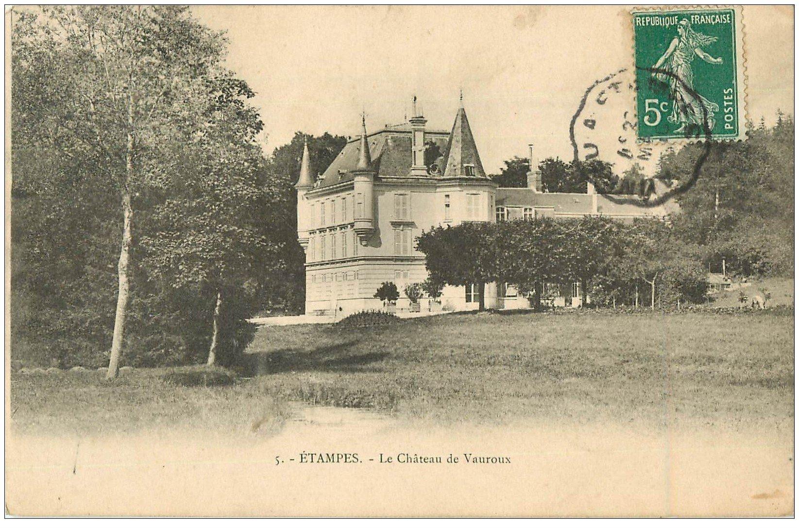 91 etampes le ch teau de vauroux 1910 for Chateau etampes