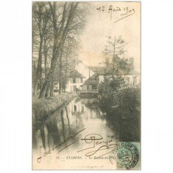 carte postale ancienne 91 ETAMPES. Le Moulin du Port 1903