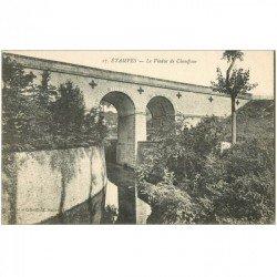 carte postale ancienne 91 ETAMPES. Le Viaduc du Chauffour petite animation