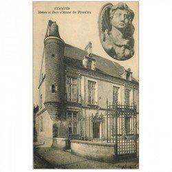 carte postale ancienne 91 ETAMPES. Maison et Buste Anne de Pisseleu