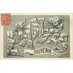 carte postale ancienne 91 ETAMPES. Multivues Fantaisie 1907