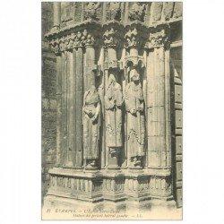carte postale ancienne 91 ETAMPES. Notre Dame du Fort Statues Portail