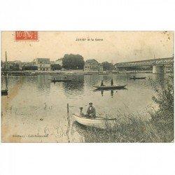 carte postale ancienne 91 JUVISY SUR ORGE. Canotage sur la Seine 1908