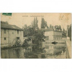 carte postale ancienne 91 JUVISY SUR ORGE. La Marbrerie et l'Orge 1909
